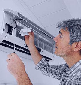 Higienização e manutenção de ar-condicionado